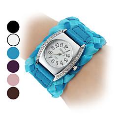 Reloj de las mujeres Tela de cuarzo analógico muñeca (colores surtidos)