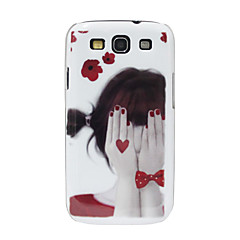 Shy Girl Pattern Hard Case for Samsung Galaxy S3 I9300