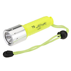 Cree XML-T6 1-Mode Diving LED lommelykt (1000 lm, 1x18650, Grønn)