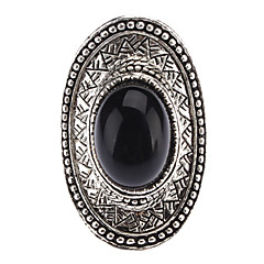 Alloy Black Onyx Adjustable Ring