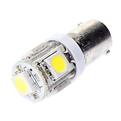 BA9S 1W 5x5050SMD White Light LED lamp voor in de auto Brake Lamps (DC 12V)