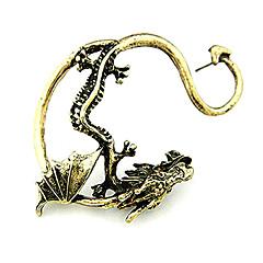 Ear Cuffs Modny Osobiste Europejski Stop Smok Silver Golden Biżuteria Na Codzienny Prezenty bożonarodzeniowe