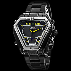 WEIDE® Men's Watch Military Black Steel Triangle Shape Analog-Digital Multi-Functional Cool Watch Unique Watch