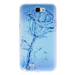 물은 삼성 갤럭시 노트 2 N7100를위한 본 단단한 케이스 로즈