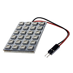 BA9S/Festoon/T10 4W 24x5050SMD 250-270LM LED Yellow Light Car License Plate / Dome / Leselampe (12V)