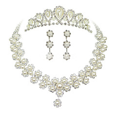 Jewelry Set Women's Anniversary / Wedding / Engagement / Birthday / Party / Special Occasion Jewelry Sets AlloyImitation Pearl /