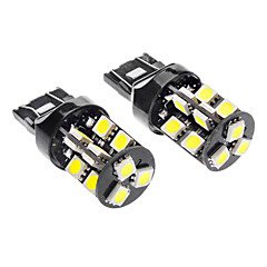 7443/7440/T20 3.5W 19x5050SMD 6000-6500K 240-260LM White Light LED Bil lamper (DC 12V, 1-Pair)