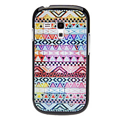 Triangle Vävt Design Pattern Hard Case för Samsung Galaxy I8190