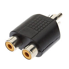 RCA męski na 2 x RCA Female Adapter