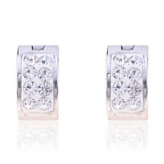Σκουλαρίκι Κρίκοι Κοσμήματα Καθημερινά Κρύσταλλο / Κράμα Άντρες Ασημί
