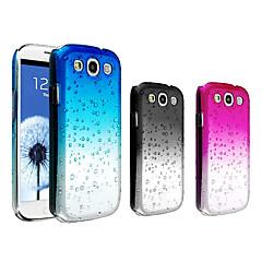vormor® vesipisara liukuvärin läpinäkyvä pc kova suojakotelo Samsung Galaxy S3 i9300