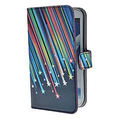 Meteor Shower Mønster PU lærveske med stativ og kortspor for Samsung Galaxy Note 2 N7100