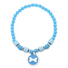 Perlas preciosas, con forma redonda del patrón del hueso del collar para mascotas perros (varios colores, tamaños)