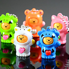 Changeable Face Doll Keychain Reduce Pressure(Random Color)