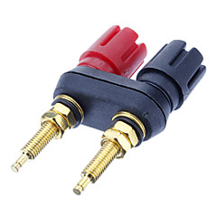 Banana Plug Binding Post Svejsning Forgyldt Black & Red for Home Theater
