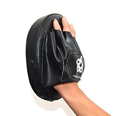 PU Leather Punch Mitts Boxing Training Pad (Black&Red) MN50601