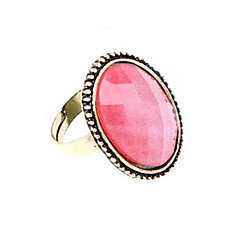 European And American Retro Wild Flower Ring Hollow Oval Ring