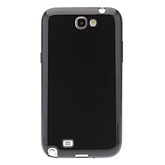 TPU Jelly Silicone Gel Case Cover for Samsung Galaxy Note II N7100(White,Black)