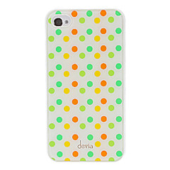 Avvik Concise Fargerike Round Dots Pattern Smooth Surface PC vanskelig sak for iPhone 4/4S
