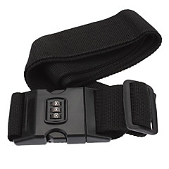 CJSJ Excellent Password Strap Belt with Name Tag for Luggage and Suitcase- Black