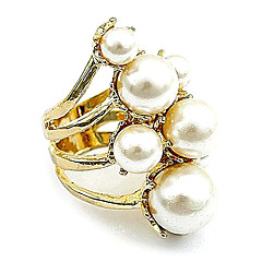 The New European And American Retro Round Gorgeous Pearl Ring
