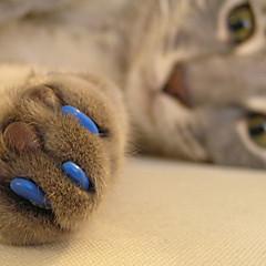 tapas blandas de uñas con el pegamento para perros gatos garras - 20 PC / paquete (xs-l, colores surtidos)
