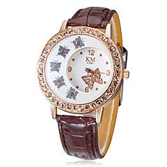 Kvinnors Diamante fjäril mönster Dial PU Band Quartz analog armbandsur (blandade färger)