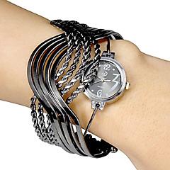 Women's Multi-Strand Rings Bangle Design Black Dial Quartz Analog Bracelet Watch Cool Watches Unique Watches