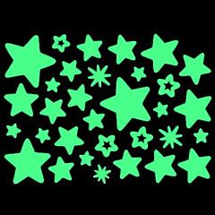 koti seinä hehkuu pimeässä tähti tarrasarja