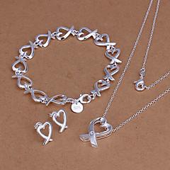 hjerte-shanped smykker sæt