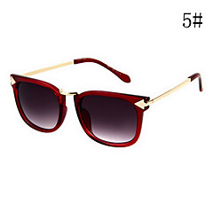 Frauen Kaffee & Lila Objektiv Black & Blue & Brown & Lila & Red Frame Cat Eye & Square Sonnenbrille