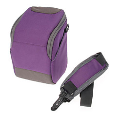 B-01-PL Purple Crossbody One-Shoulder Camera Bag for DSLR Camera