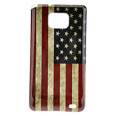 USA vlag patroon TPU skinning Case + Screen Protector voor Samsung Galaxy S2 I9100