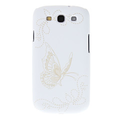 Embossed Butterfly Pattern Protective Hard Back Case for Samsung Galaxy S3 I9300