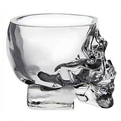 Ev bar mini kristal kafatası kafa fincan votka vurdu cam viski içmek eşya