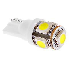 T10 1W 5x5050SMD 45LM 6000-7000K Cool White Light LED-lamppu auton (DC 12V)