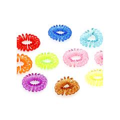 Kadınlar için (10 Adet) Tatlı renkli Silikon Saç Kravatlar
