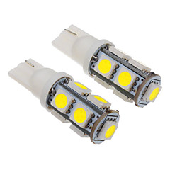 T10 2W 9x5060SMD 100-150LM 6000-6500K Cool White Light LED Bulb for Car (12V)