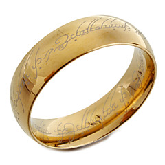 Ringen Dagelijks Causaal Kerstcadeaus Sieraden Titanium Staal Dames Heren Bandringen 1 stuks,8 Gouden