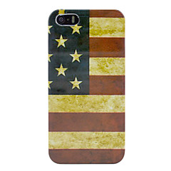 EUA do vintage Amerian bandeira nacional capa dura para o iPhone 5/5s