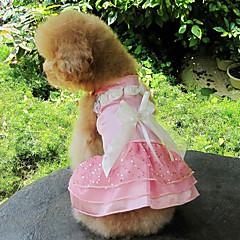 Dress Elegant Angel con Bowknots cordón por Mascotas Perros (varios colores, tamaños)
