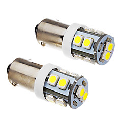 2-delige BA9S 1W 10x3528SMD 70-90LM 6000K Cool White Light LED lamp (12V)