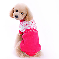 Dog Sweater Rose Winter Bowknot Fashion