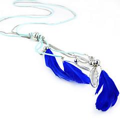 Sapphire Blue Feather Necklaces