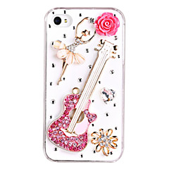 Joyland Ballet Girl Guitar Metal Ornament Jewelry Case for iPhone 4/4S