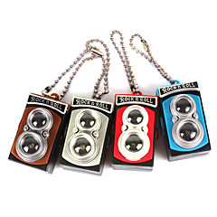 Mini Camera Style White Light Plastic Keychain (3xAG13, Random Color)