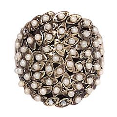 טבעות Party יומי תכשיטים פנינה סגסוגת נשים שרשראות הצהרה 1pc,7 8 כסף