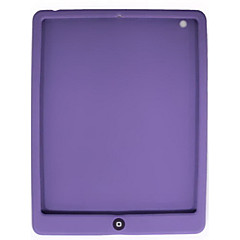 Soft Silicon Case for iPad 2 with One Button (Purple)
