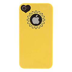Yksivärinen Veistos ja Heard-muoto kuvio Kova kotelo iPhone 4/4S (Assorted Colors)