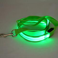 Koirat Talutushihnat LED valot / Turvallisuus Punainen / Valkoinen / Vihreä / Sininen / Pinkki / Keltainen / Oranssi Nailon